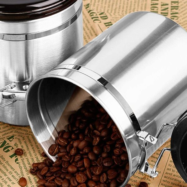 Airtight Coffee Container with CO2 Venting Valve
