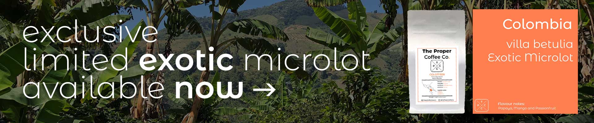 Exclusive Exotic Microlot Coffee from Colombia