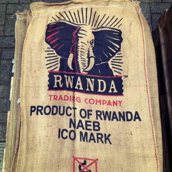 Rwanda, Inzovu, Coffee Sack